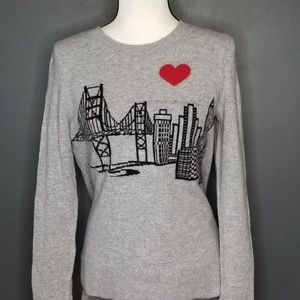 PECK & PECK LUXURY Gray Cashmere Sweater NWT